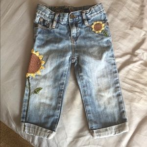 Baby Gap Capri sunflower jeans